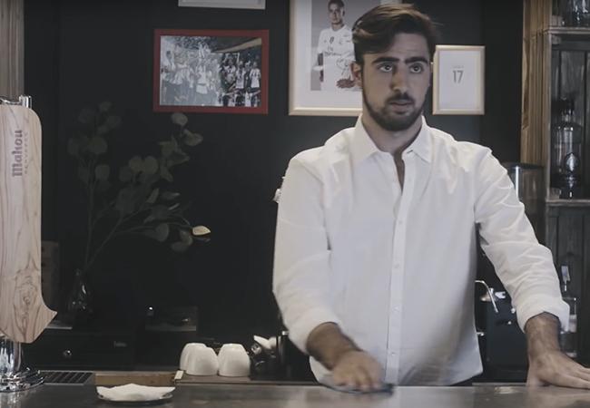 Pedro Cerezo en el anuncio de Mahou