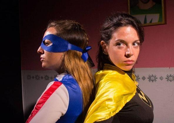 Alba Peréz en la obra de teatro «Superwoman».